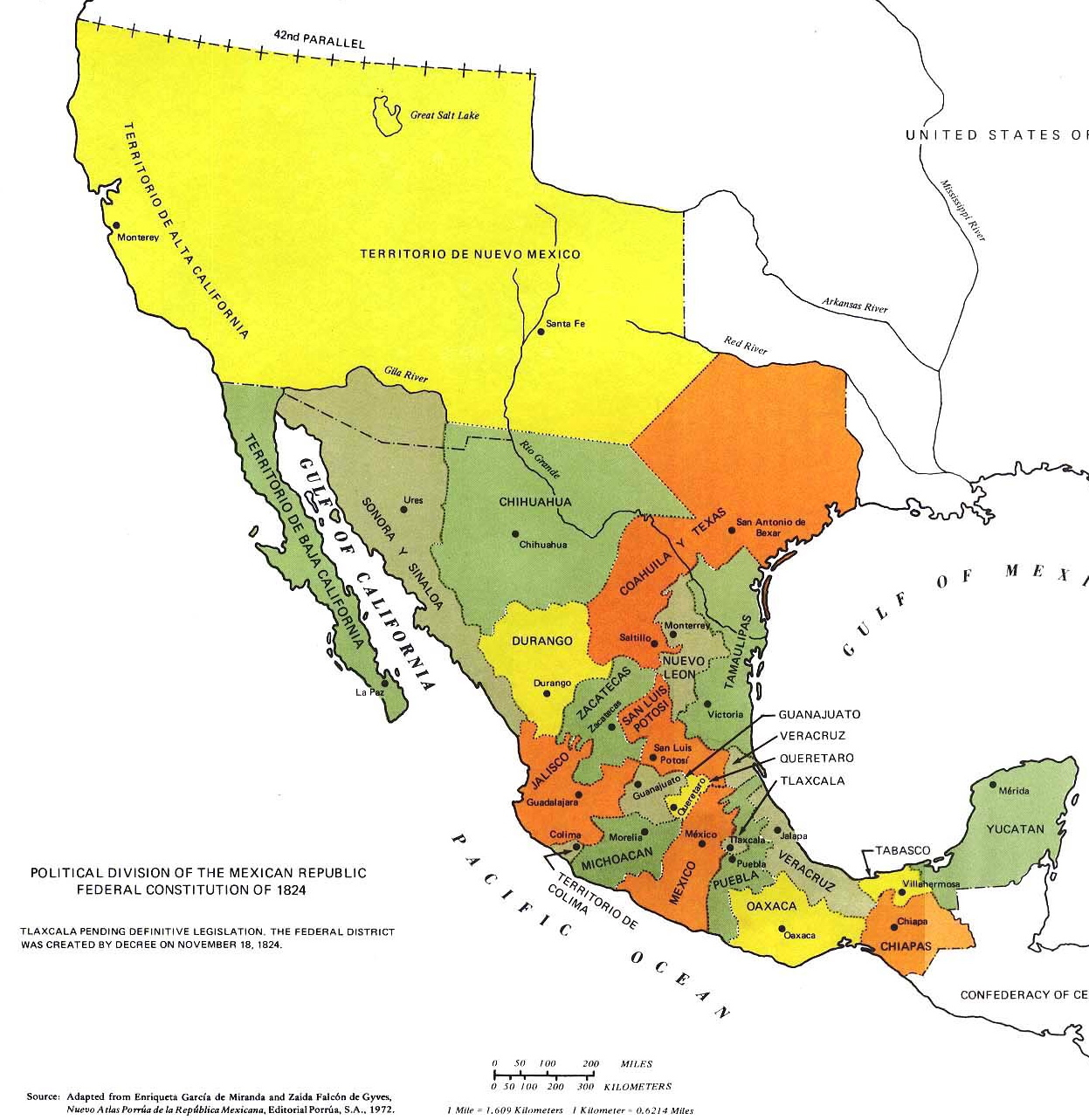 Mexico Rivers Map